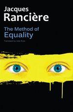 Vente Livre Numérique : The Method of Equality  - Jacques RANCIERE