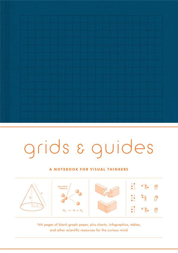 GRIDS & GUIDES (NAVY) A NOTEBOOK FOR VISUAL THINKERS ANGLAIS