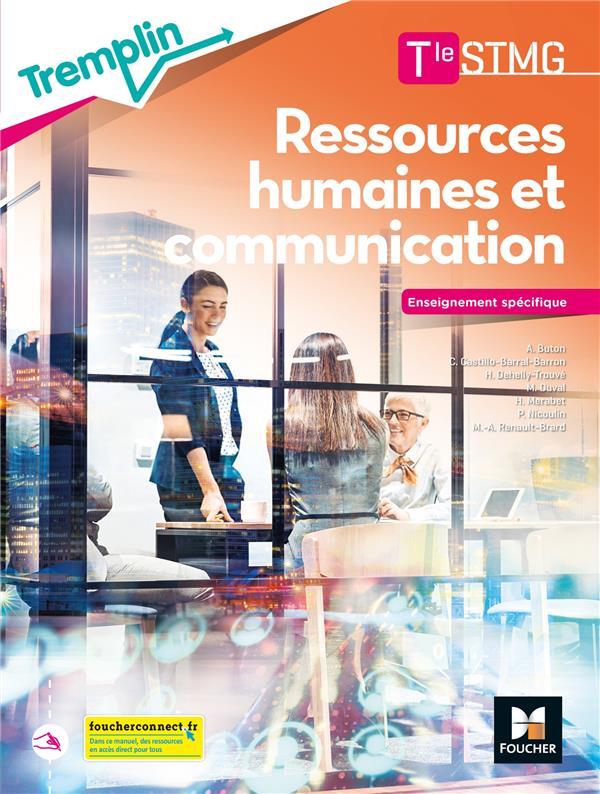 TREMPLIN ; RH et communication ; terminale STMG ; enseignement spécifique ; livre de l'élève