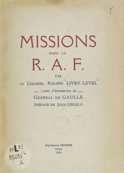 Missions dans la R.A.F.