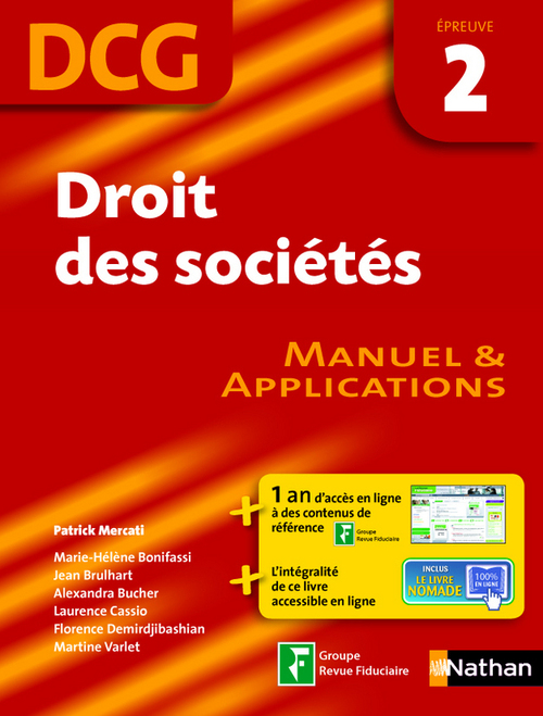 Droit des sociétés - DCG 2 - Manuel et applications