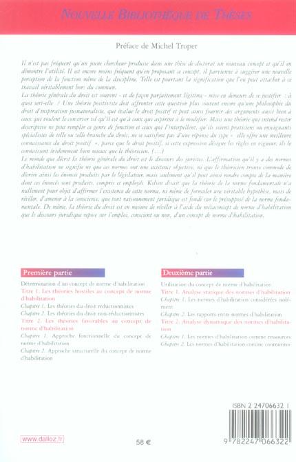 Les normes d'habilitation. volume 60
