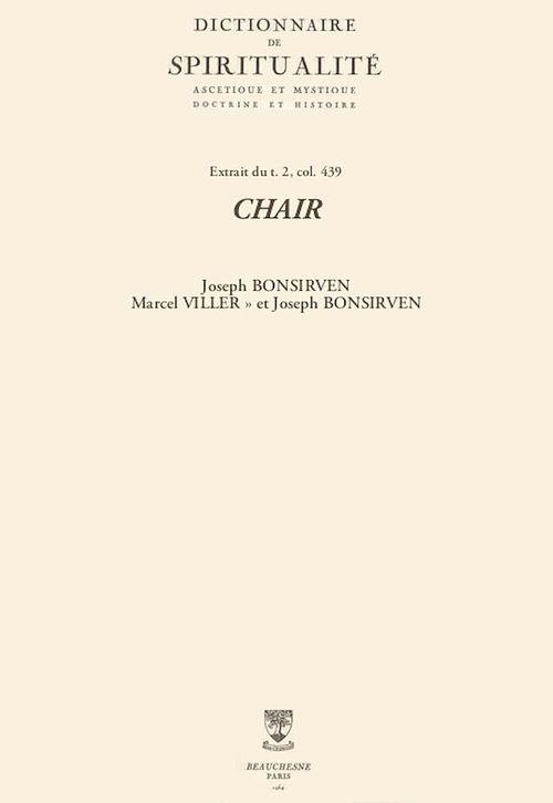 CHAIR  - Marcel VILLER» et Joseph BONSIRVEN  - Joseph Bonsirven
