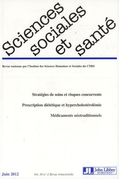 Revue sciences sociales et sante t.30; vol. 2 ; juin 2012