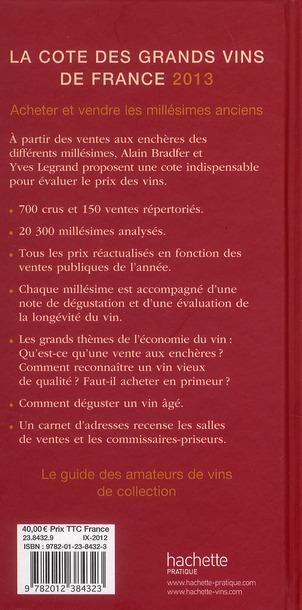 La côte des grands vins de France (édition 2013)