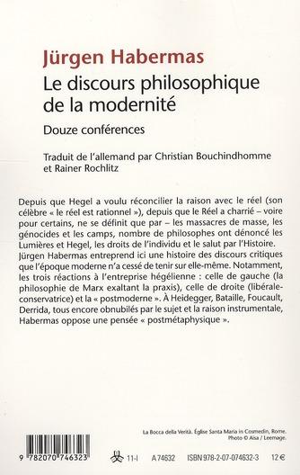 le discours philosophique de la modernité