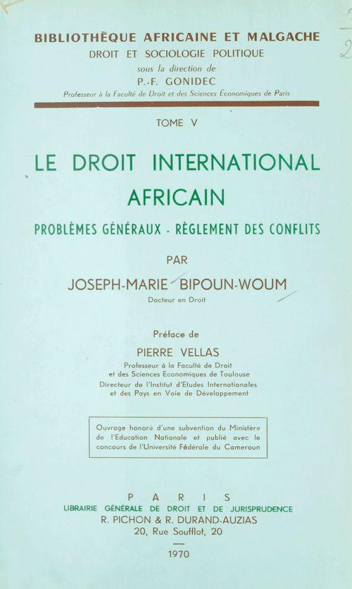 Le droit international africain
