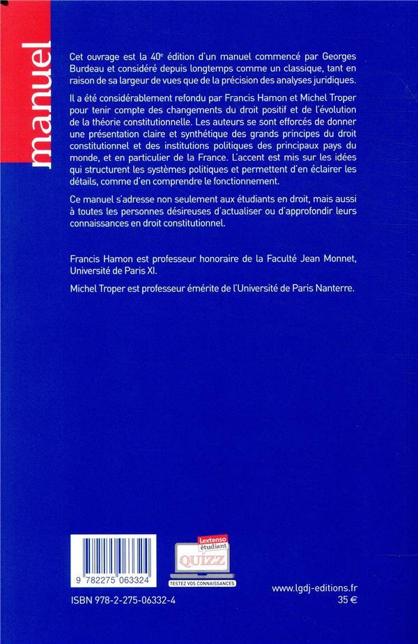 Droit constitutionnel (édition 2019/2020)