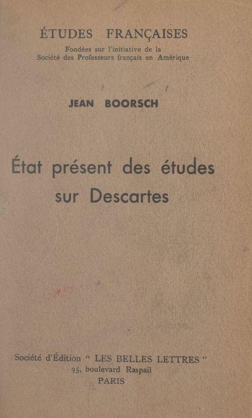 État présent des études sur Descartes