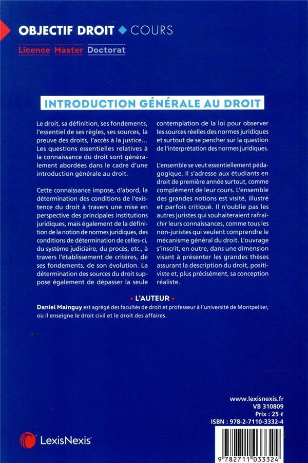Introduction générale au droit (8e édition)