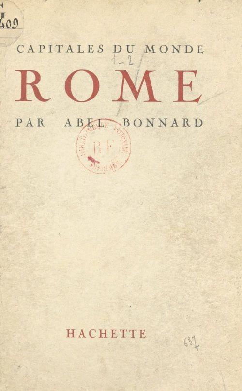 Rome  - Abel Bonnard