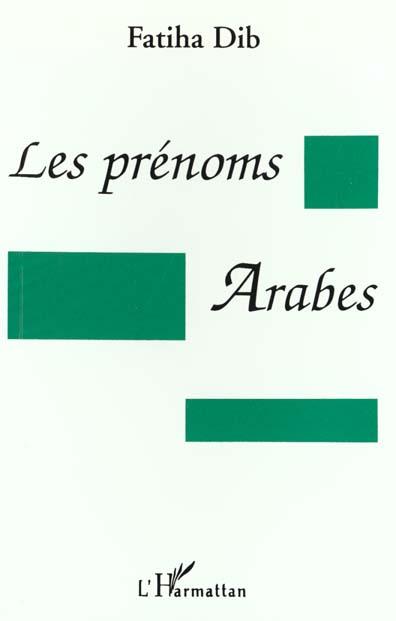 Les Prenoms Arabes