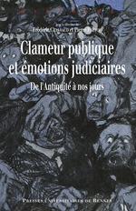 Vente Livre Numérique : Clameur publique et émotions judiciaires  - Frédéric Chauvaud - Pierre Prétou