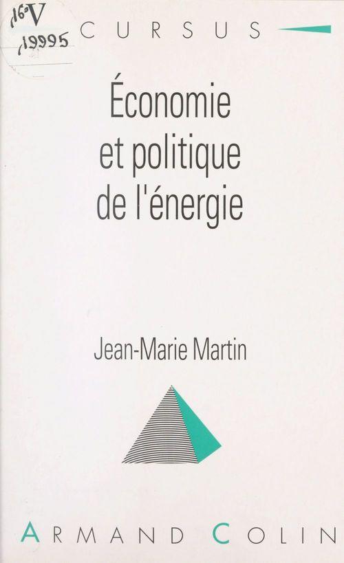Économie et politique de l'énergie
