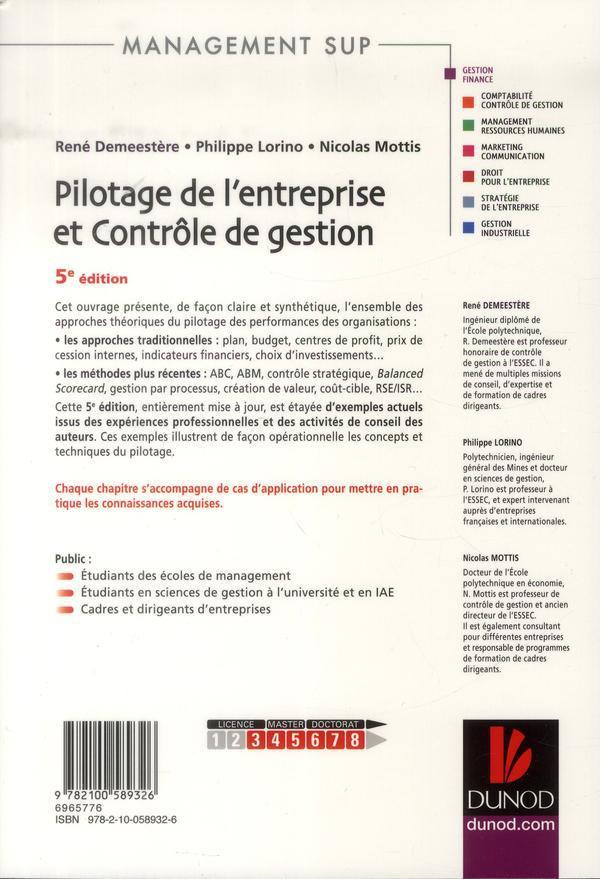 Pilotage de l'entreprise et contrôle de gestion (5e édition)