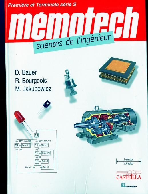 Memotech Sciences De L'Ingenieur ; Premiere Et Terminale Serie S