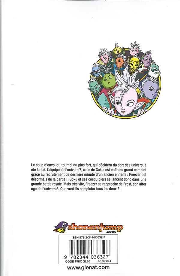 Dragon Ball Super T.7 ; début du tournoi pour la survie de l'univers !