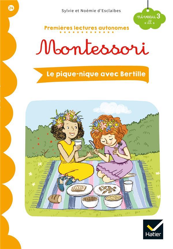 Premières lectures autonomes Montessori T.24 ; le pique-nique avec Bertille