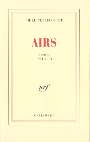 Airs (Poemes 1961-1964)