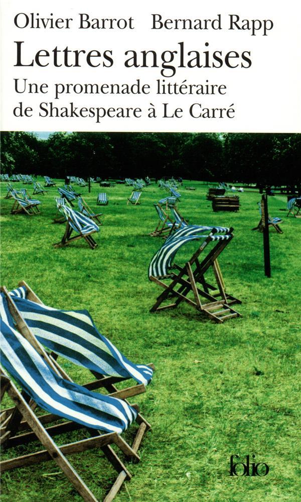 Lettres anglaises ; une promenade littéraire de Shakespeare à Le Carré