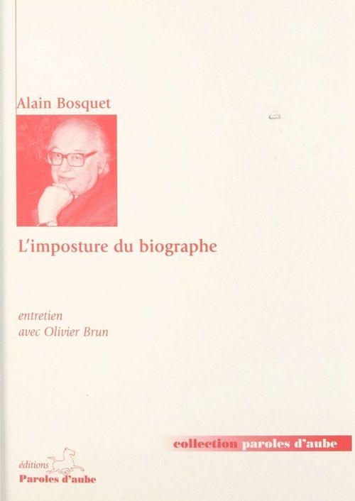 L'imposture du biographe