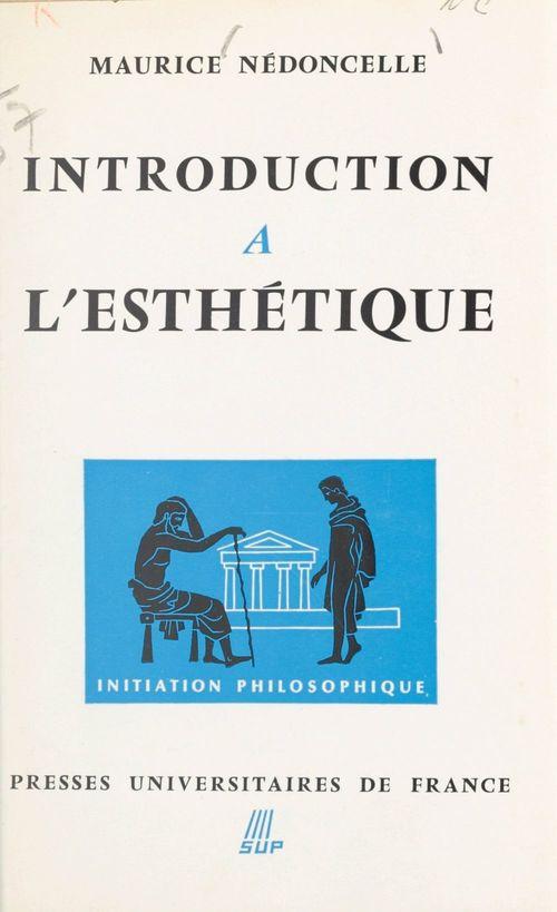Introduction à l'esthétique