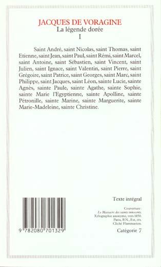 Litterature et civilisation - t01 - la legende doree