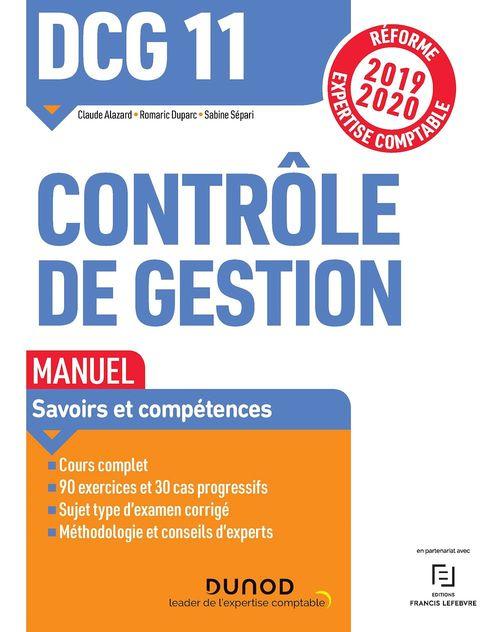 DCG 11 ; contrôle de gestion ; manuel (édition 2019/2020)