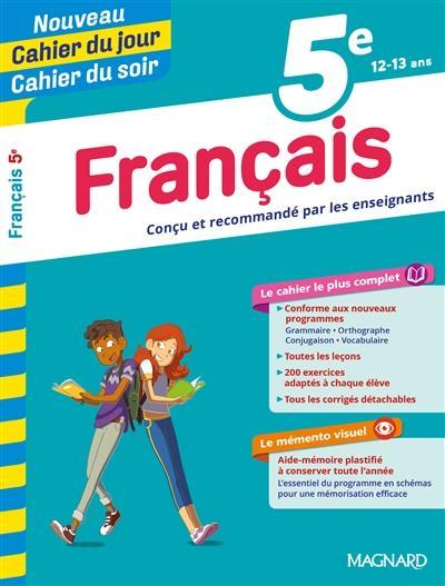 Cahiers du jour/ soir ; français ; 5e