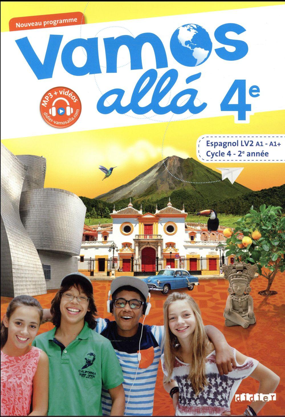 VAMOS ALLA ; espagnol ; 4e LV2 ; livre