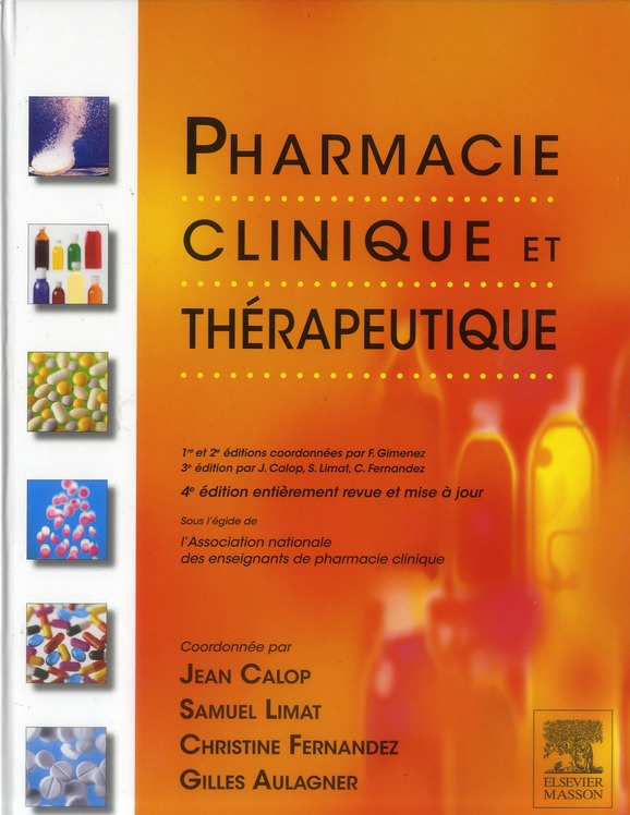 Pharmacie Clinique Et Therapeutique (4e Edition)