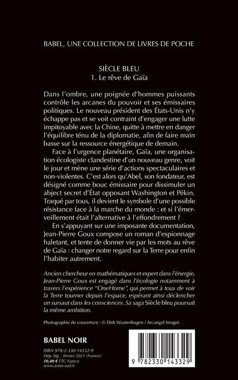 Siècle bleu t.1 ; le rêve de Gaïa