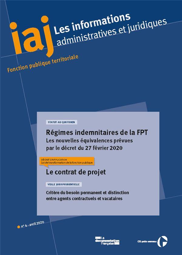 Avril 2020 regimes indemnitaires de la fpt