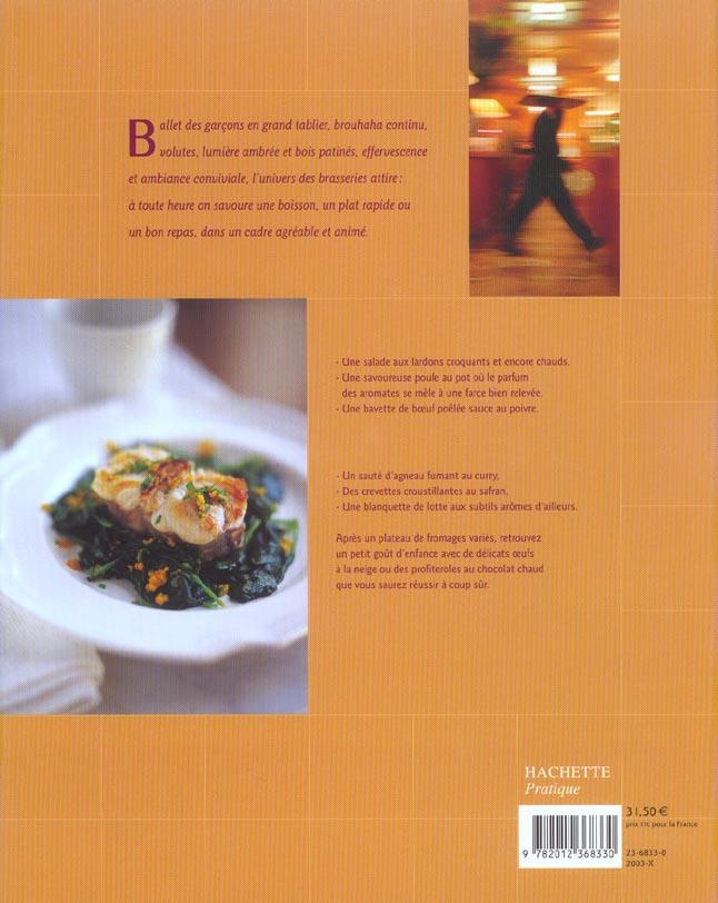 La cuisine des brasseries ; 80 recettes traditionnelles francaises