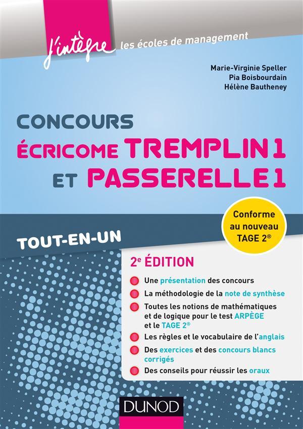 Concours Ecricome Tremplin 1 Et Passerelle 1 (2e Edition) ; Tout-En-Un