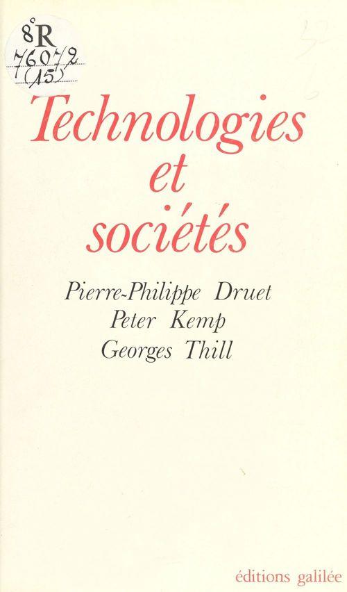 Technologies et societes