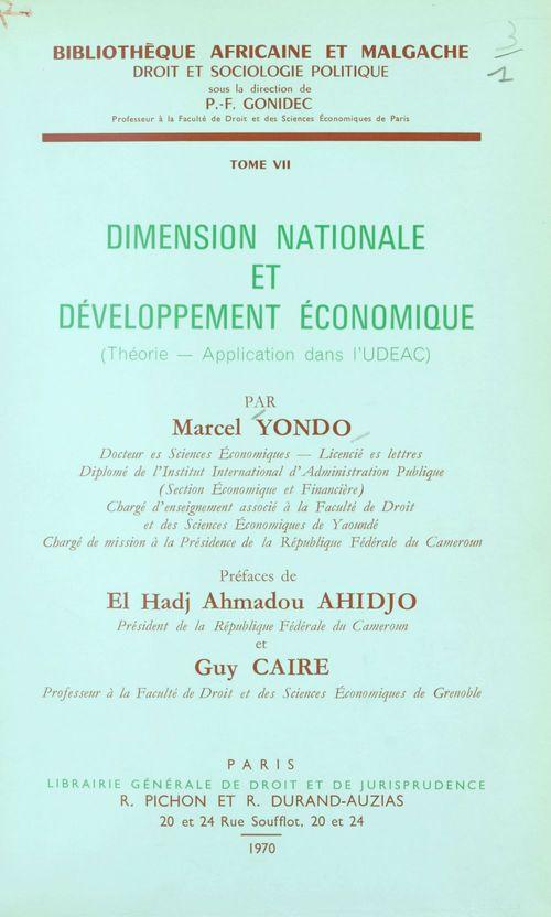 Dimension nationale et développement économique