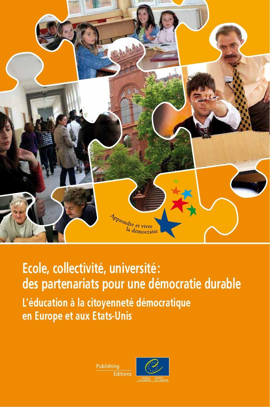 Ecole , collectivité , université : des partenaires pour une démocratie durable