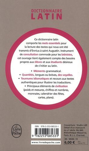 Dictionnaire latin de poche