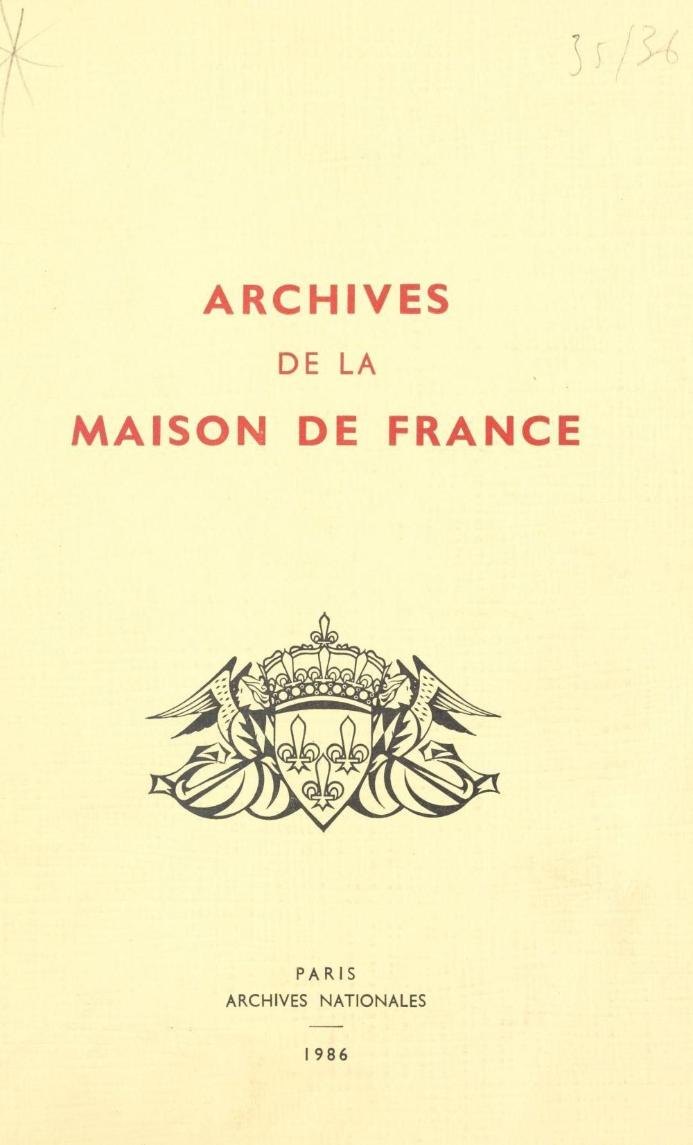 Archives de la Maison de France, branche d'Orléans (4)