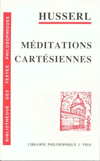 Méditations cartésiennes ; introduction à la phénoménologie