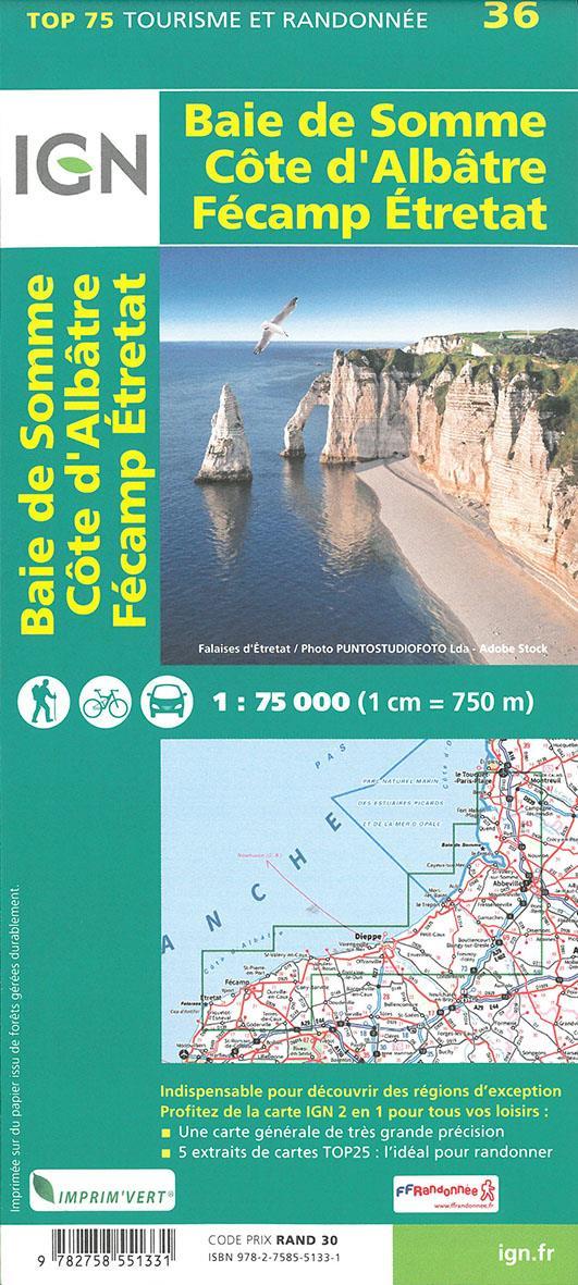 TOP75036 ; Baie de Somme, Côte d'Albâtre (2e édition)