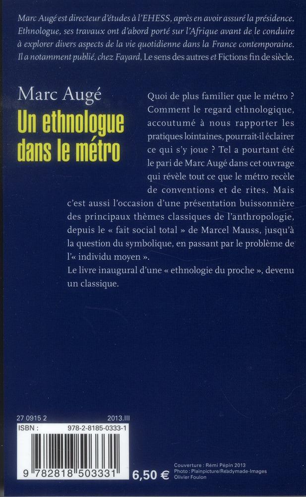Un ethnologue dans le métro