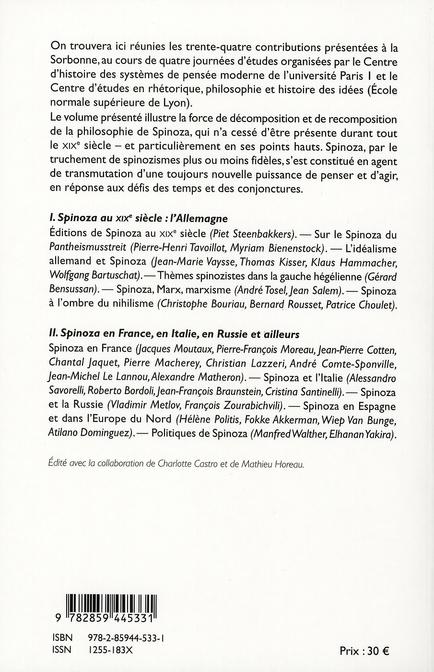 Spinoza au XIX siècle