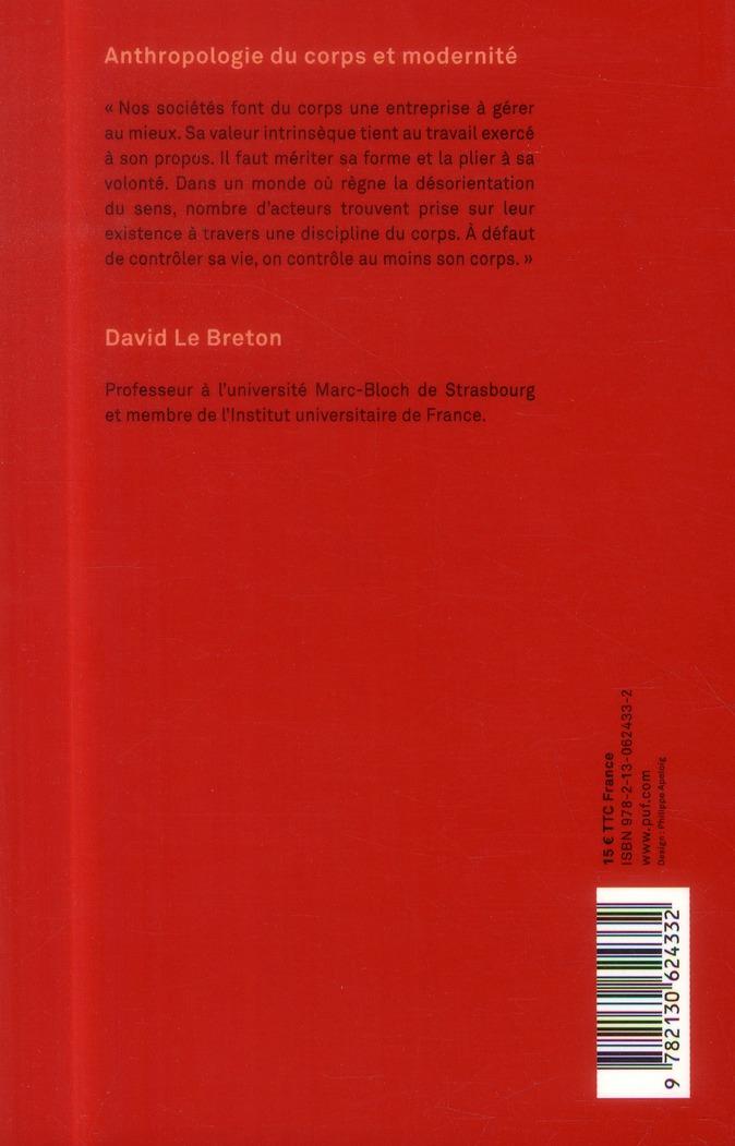 Anthropologie du corps et modernité (7e. édition)