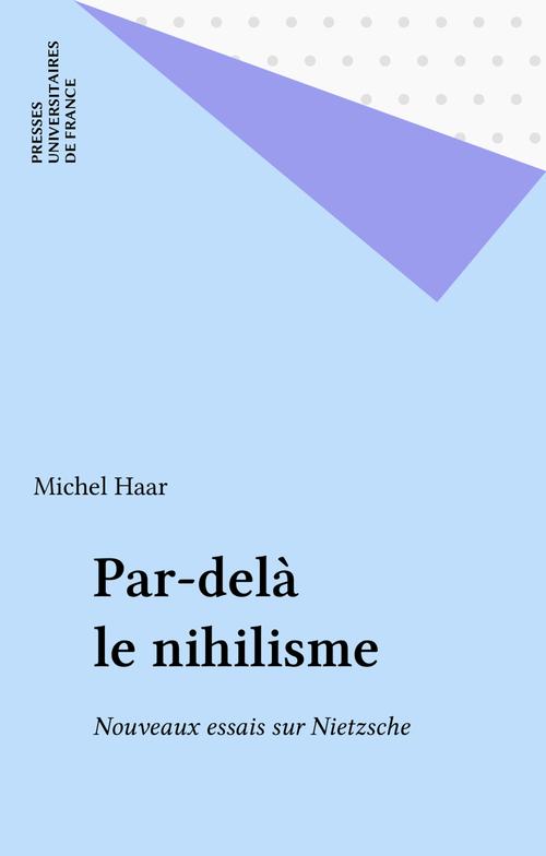 Par-delà le nihilisme