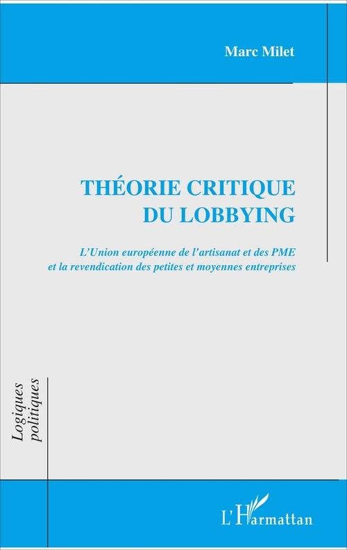 Théorie critique du lobbying