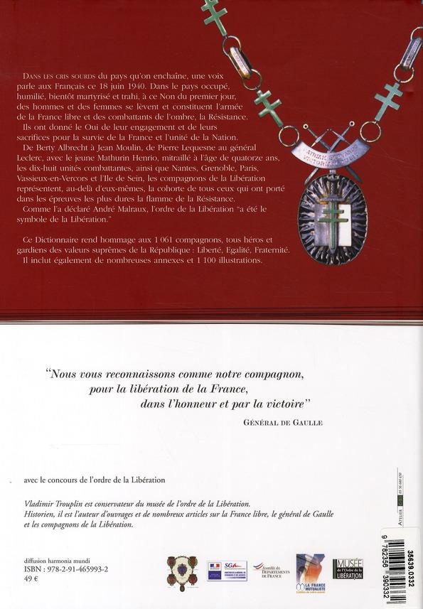 Dictionnaire Des Compagnons De La Liberation Vladimir Trouplin Elytis Grand Format Place Des Libraires