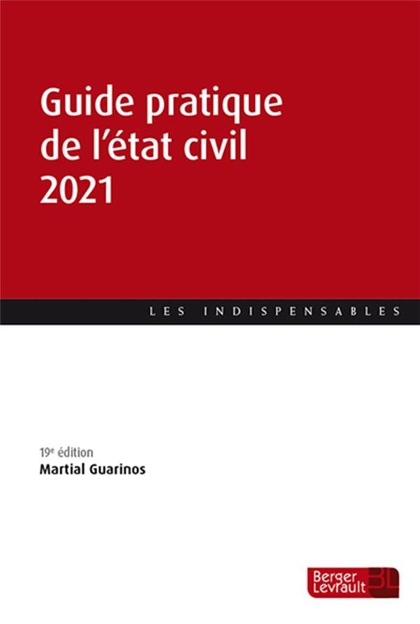 Guide pratique de l'état civil (édition 2021)