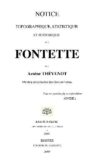 Fontette : notice topographique,statistique et historique